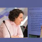 """Πάνω σε μωβ φόντο τρεις εικόνες: αριστερά το εξώφυλο του βιβλίου """"συμεπρίληψη και ανθεκτικότητα"""", στη μέση η Νάνσυ παπαθανασίου, δεξιά η Έλενα Όλγα Χρηστίδη"""
